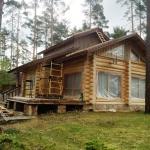 Деревянный дом до покраски