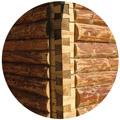 Плюсы строительства срубов домов из окоренного бревна