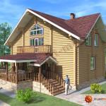 Проект бревенчатого дома 160 кв.м