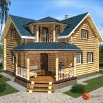 Проект дома из бревна D01 - 100 кв.м.