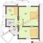 Проект дома из бревна D01 - 100 кв.м. (план второго этажа)