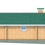 Проект гостевого дома из бревна - 50 кв.м.